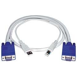 VGA + USB Interface Cable, Male-to-Male