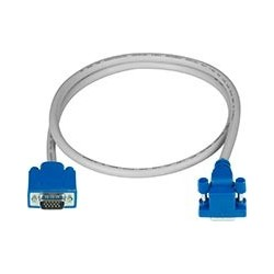 Down Angled to Straight Connector VGA Cable, Male-to-Male