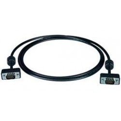 Ultra Thin VGA Monitor Cable with Ferrites - Male-to-Male