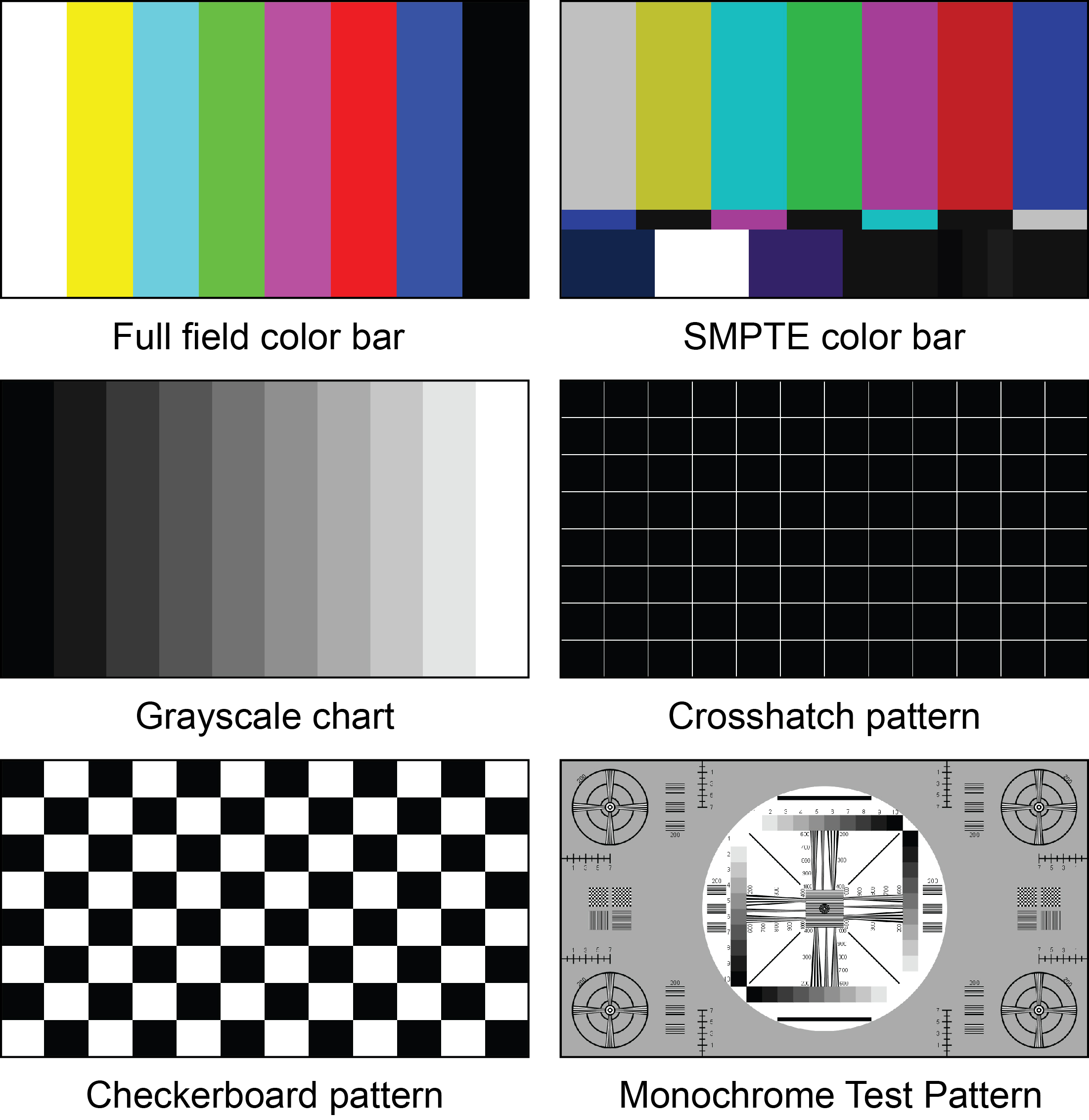 Video Test Pattern Generator Hdtv Lcd Troubleshoot Calibrate Audio Signal Freeware Patterns